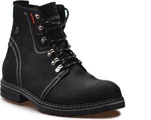 Czarne buty zimowe RAMMIT sznurowane