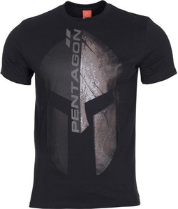 Czarny t-shirt Pentagon z bawełny