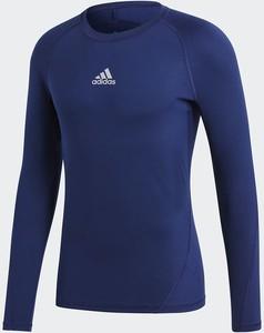 Niebieska koszulka z długim rękawem Adidas