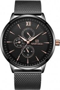 ZEGAREK MĘSKI Zegarek NAVIFORCE - NF3003 black + BOX Czarny