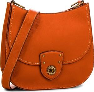 df01c86f62311 Pomarańczowa torebka Lauren Ralph Lauren w młodzieżowym stylu