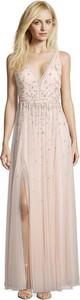 Różowa sukienka Vera Mont z dekoltem w kształcie litery v