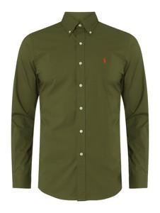 Zielona koszula POLO RALPH LAUREN z bawełny z klasycznym kołnierzykiem