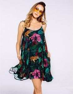 Sukienka JUNGMOB mini na ramiączkach