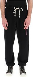 Czarne spodnie sportowe Palm Angels w sportowym stylu z dresówki