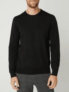 Sweter Hugo Boss z wełny z okrągłym dekoltem w stylu casual