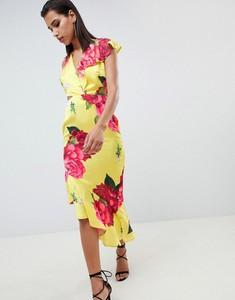 Sukienka Asos Design z krótkim rękawem midi