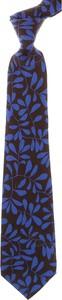 Granatowy krawat Kiton