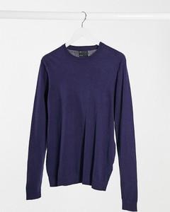 Granatowy sweter Asos z bawełny