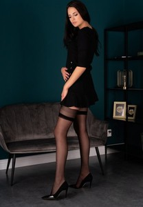 Czarne pończochy Livia Corsetti