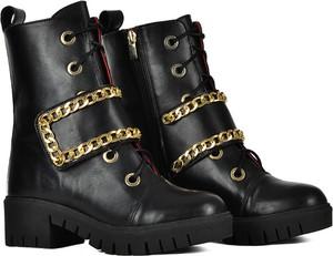 Czarne trapery damskie Ulmani Shoes