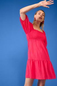 Czerwona sukienka ORSAY z bawełny mini