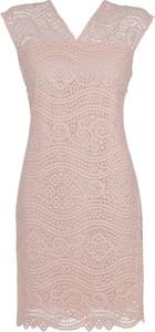 Sukienka Niren bez rękawów z dekoltem w kształcie litery v
