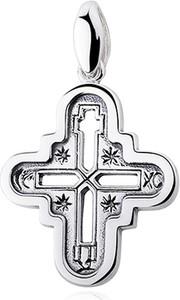 Valerio Elegancki rodowany srebrny krzyżyk krzyż lednicki srebro 925 KKS0021R