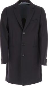 Granatowy płaszcz męski Paul Smith z bawełny