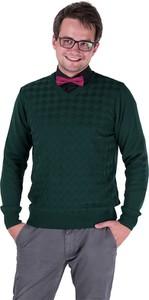 Zielony sweter M. Lasota ze skóry ekologicznej