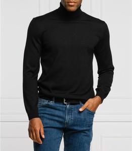 Czarny sweter Joop! w stylu casual z golfem z wełny