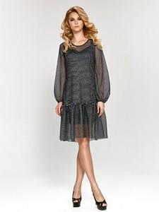 Sukienka Marselini oversize mini z okrągłym dekoltem