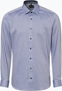 Niebieska koszula Olymp Level Five z bawełny z klasycznym kołnierzykiem