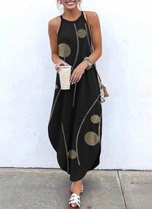 Sukienka Kendallme z okrągłym dekoltem maxi bombka