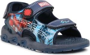 Granatowe buty dziecięce letnie Spiderman na rzepy dla chłopców
