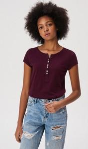 Fioletowy t-shirt Sinsay