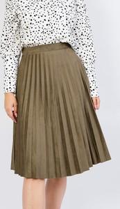 Zielona spódnica Olika z zamszu