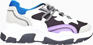 Sneakersy Gate na platformie sznurowane