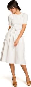 Sukienka Merg z krótkim rękawem midi w stylu casual