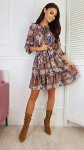Sukienka infinityfashion.pl z okrągłym dekoltem rozkloszowana
