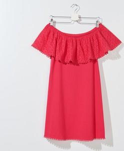 Czerwona bluzka Mohito z krótkim rękawem w stylu casual