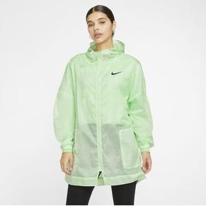 Zielona kurtka Nike w sportowym stylu długa