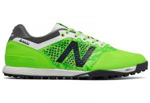 Zielone buty New Balance w sportowym stylu sznurowane