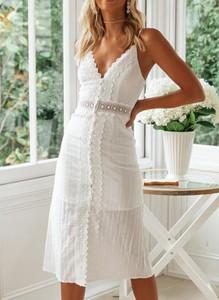 Sukienka Sandbella midi na ramiączkach