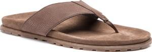 Brązowe buty letnie męskie Josef Seibel z nubuku
