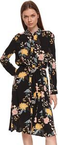 Sukienka Top Secret z tkaniny z kołnierzykiem w stylu casual