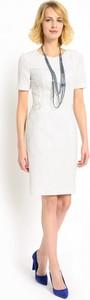 Sukienka POTIS & VERSO z okrągłym dekoltem ołówkowa z krótkim rękawem