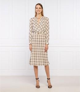Sukienka Elisabetta Franchi w stylu casual midi z długim rękawem