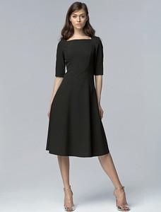 Czarna sukienka Nife midi