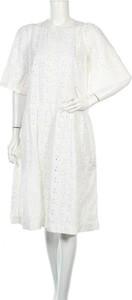 Sukienka Stella Nova z okrągłym dekoltem midi