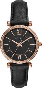Zegarek FOSSIL - Carlie ES4507 Black/Rose Gold
