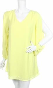 Żółta sukienka Worthington mini z długim rękawem