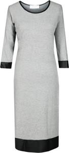 Sukienka Fokus w stylu klasycznym midi z okrągłym dekoltem