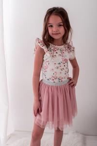 Bluzka dziecięca Lily Grey z bawełny