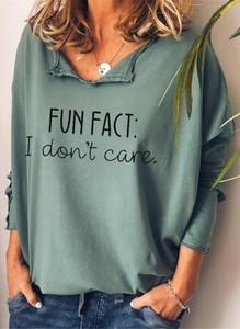Zielona bluzka Sandbella z dekoltem w kształcie litery v z długim rękawem z bawełny