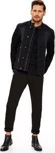 Czarna kurtka Top Secret z tkaniny w stylu casual