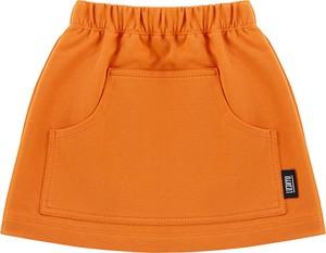 Pomarańczowa spódniczka dziewczęca Luckyu z bawełny