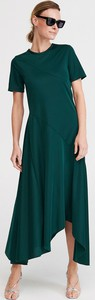 Sukienka Reserved z okrągłym dekoltem maxi z krótkim rękawem