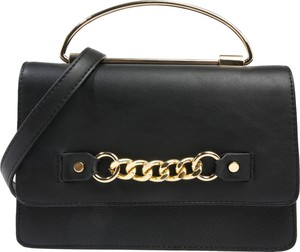 Czarna torebka Aldo zdobiona na ramię z aplikacjami