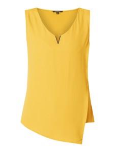 Żółta bluzka comma, bez rękawów w stylu casual